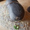 Peridot AB Swarovski heart on sterling silver bangle