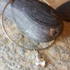 Aurora Borealis Swarovski heart on sterling silver bangle
