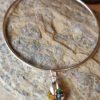 Medium vitrial swarovski heart on sterling silver bangle
