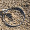 2mm bangle an open heart charm
