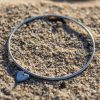 2mm bangle a tiny charm attached