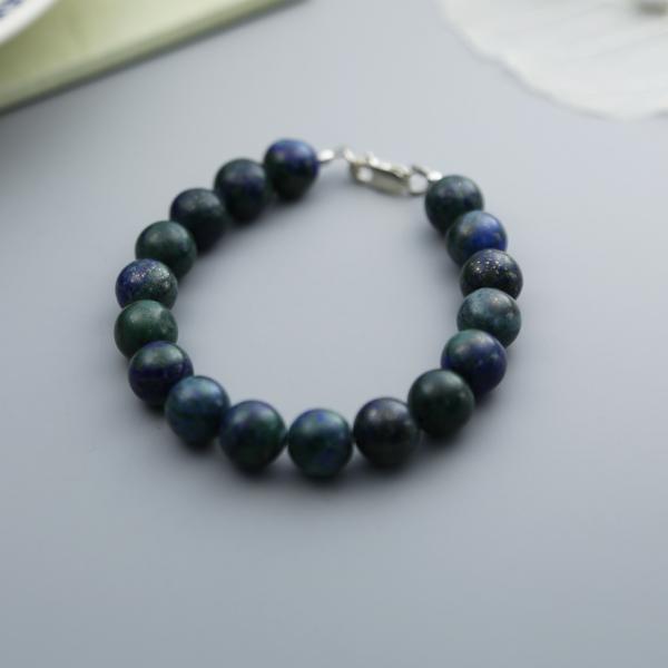 Semi-precious gemstone bracelet chrysocolla-bracelet