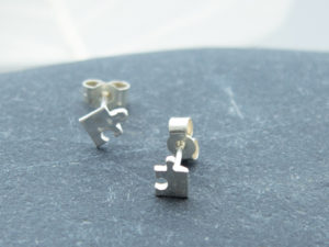 Teeny tiny handmade sterling silver studs