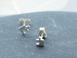 Teeny tiny handmade sterling silver studs
