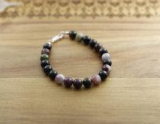 Semi-precious tourmaline gemstone bracelet
