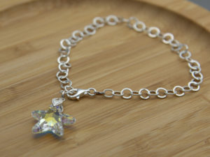 Swarovski star crystal on sterling silver chain