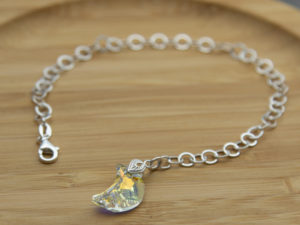 Swarovski moon crystal on sterling silver chain