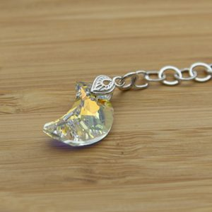 Swarovski moon crystal on sterling silver chain