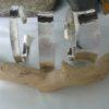 Sterling silver hallmarked hammered beaten torque cuff