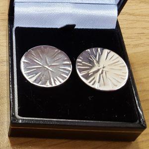 Sterling silver cross pein stud earrings