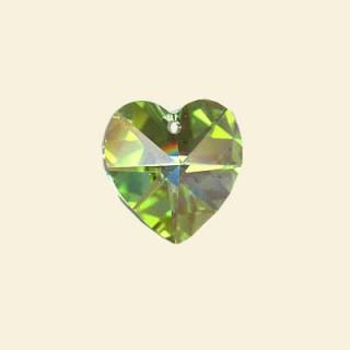 Perdidot green Swarovski Crystal heart