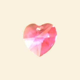 Rose Swarovski Crystal heart