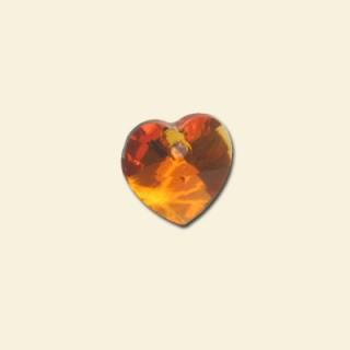 Tangerine Swarovski Crystal heart