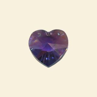 Tanzanite Swarovski Crystal heart
